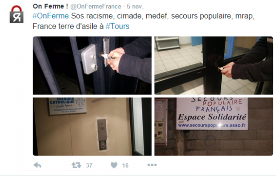 © Page twitter @OnFermeFrance