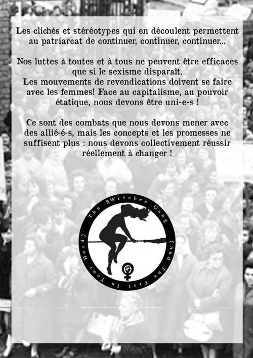 Tract Bwitches pour le 1er Mai