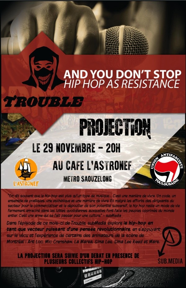 Projection Trouble subMedia « And you don't stop » – Hip-Hop as Resistance