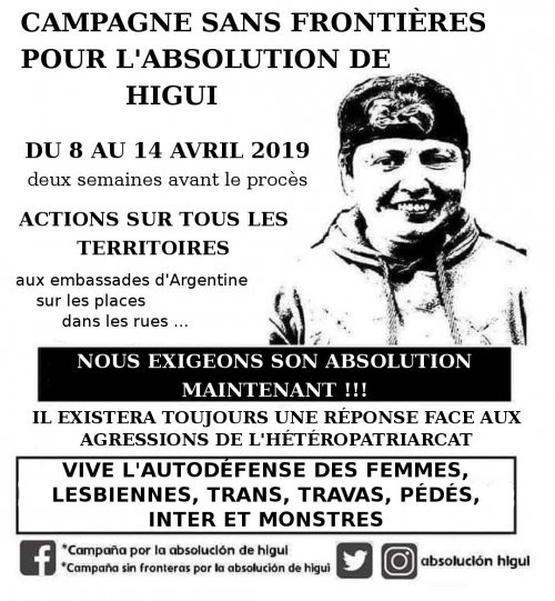 Appel à actions pour l'absolution de Higui