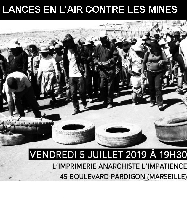 Projection du documentaire « Lances en l'air contre les mines » à l'imprimerie Impatience